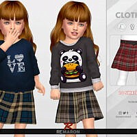 Grid Skirt For Toddler 01 By Remaron