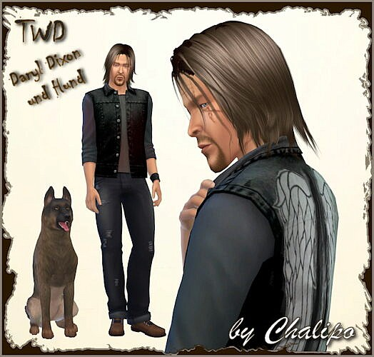 Twd Daryl Dixon And The Dog By Chalipo