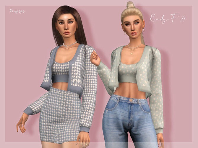 Sims 4 Rebeca Top TP401 by laupipi at TSR