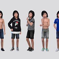 Therry Denim Shorts Boys By Mclaynesims