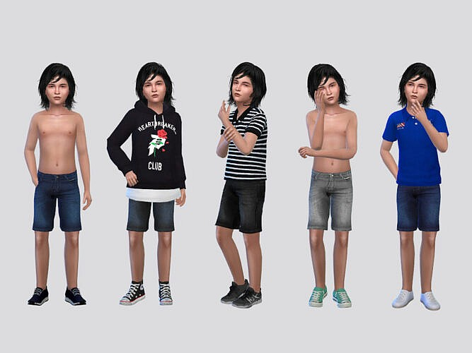 Therry Denim Shorts Boys By Mclaynesims