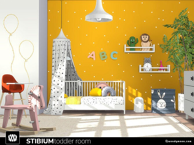 Sims 4 Stibium Toddler Room by wondymoon at TSR