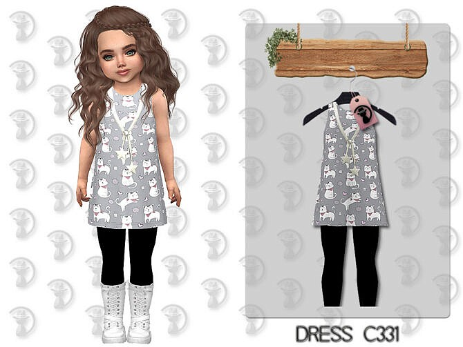 Sims 4 Dress C331 by turksimmer at TSR