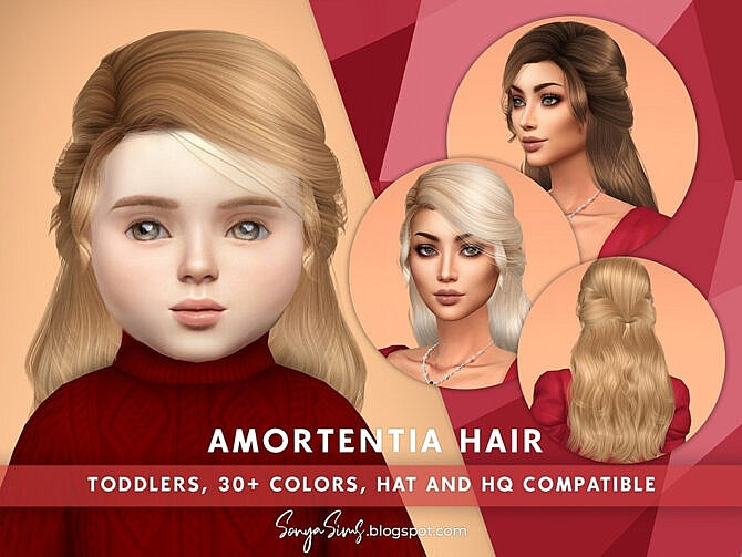 Sims 4 Amortentia Hair (Toddlers) by SonyaSimsCC at TSR