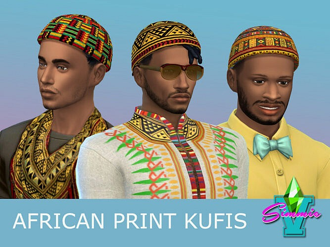 African Print Kufis By Simmiev