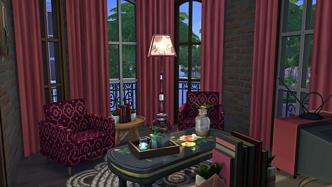 Sims 4 The White Oak Paranormal Haunted House at Frenchie Sim