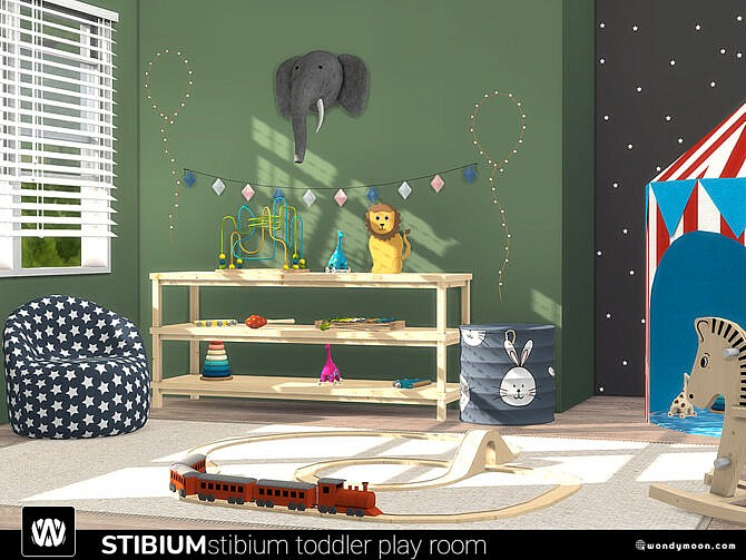 Sims 4 Stibium Toddler Play Room by wondymoon at TSR