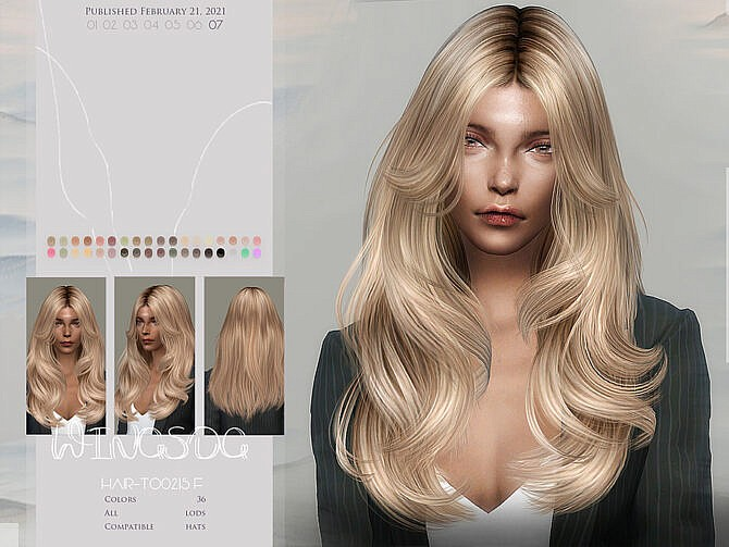 Sims 4 WINGS TO0215 Hair by wingssims at TSR