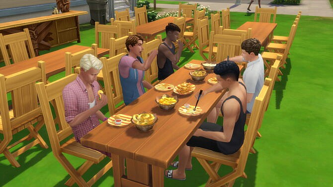 Sims 4 Deep Fryer, Family Diner Lot Trait and Sauce Pairing by konansock at Mod The Sims 4