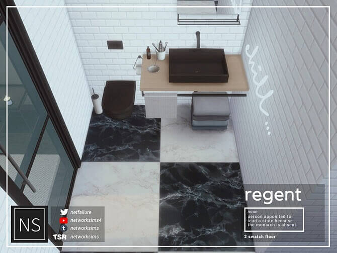 Sims 4 Regent Marble Floor by Networksims at TSR