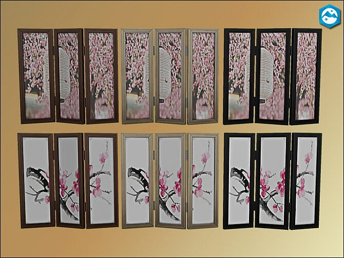Sims 4 Mea Cherry Blossoms Room Divider by oumamea at Mod The Sims 4