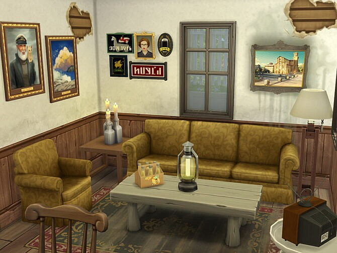 Sims 4 Shabby Abandoned Farmhouse by Flubs79 at TSR