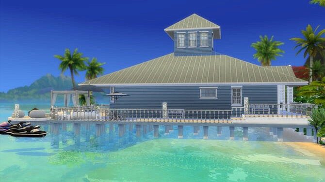 Sims 4 Totally Beachin Private Island Home by Wykkyd at Mod The Sims 4