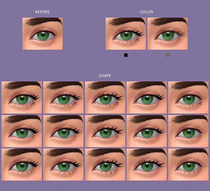Sims 4 Eyelashes Maxis Match v1 at MMSIMS