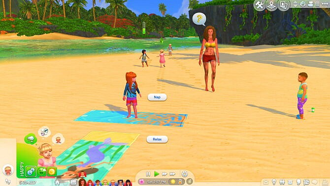 Sims 4 Toddlers can use Beach Towels by Sofmc9 at Mod The Sims 4