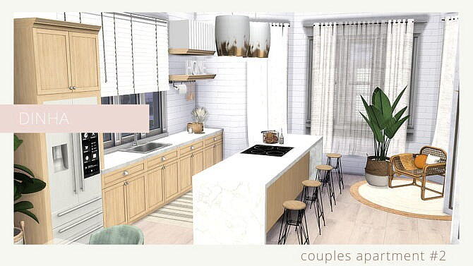 Sims 4 COUPLES APARTMENT #2 at Dinha Gamer