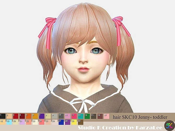 Sims 4 Jenny Toddler Hair skc 10 at Studio K Creation