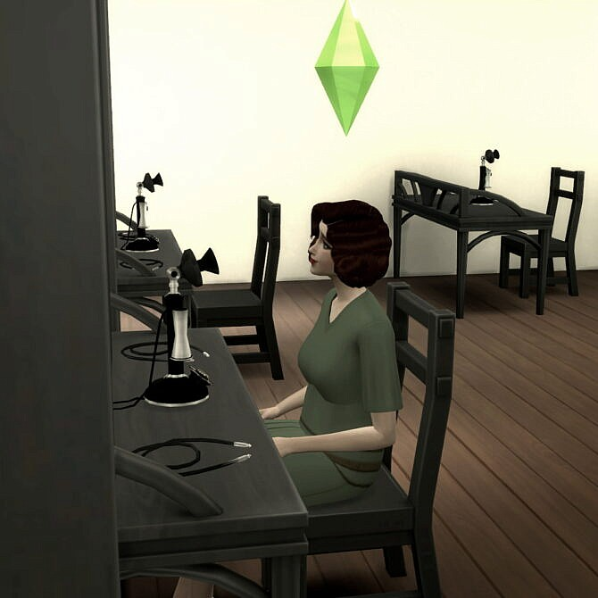 Sims 4 Switchboard Operator Vintage Career by Alpha Waifu at Mod The Sims 4