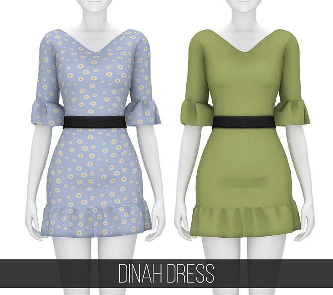 Sims 4 DINAH DRESS at Fifths Creations