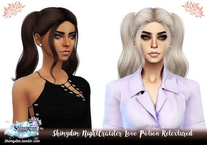Sims 4 NightCrawler Love Potion Hair Retexture at Shimydim Sims