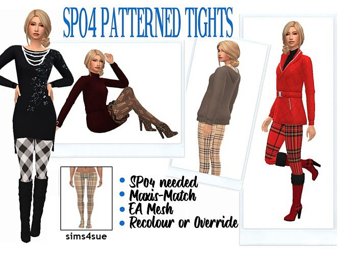 Sp04 Patterned Tights