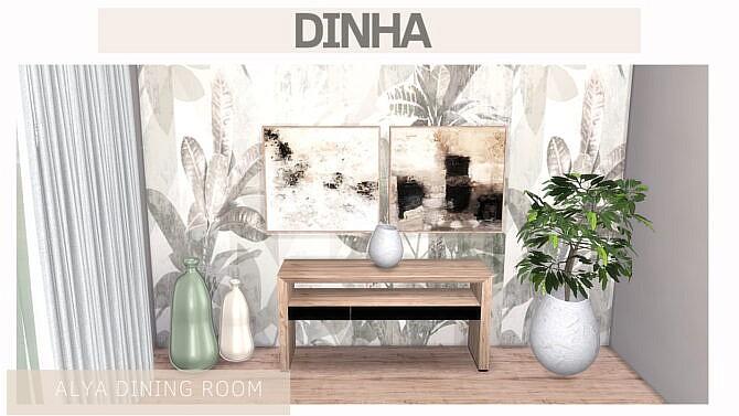 Sims 4 ALYA DINING ROOM at Dinha Gamer