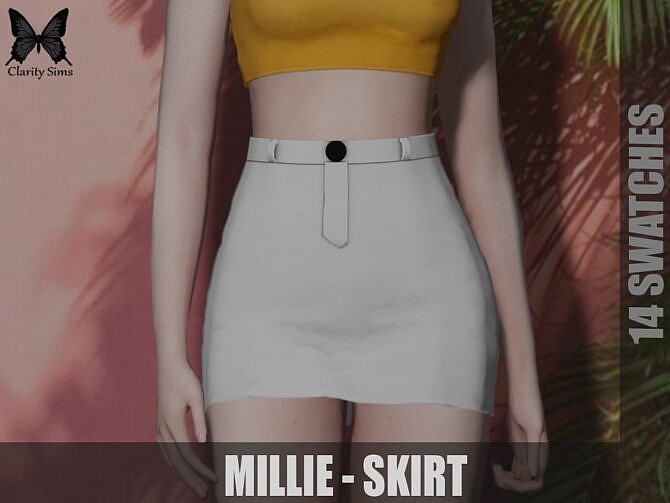 Sims 4 Millie Skirt at Clarity Sims