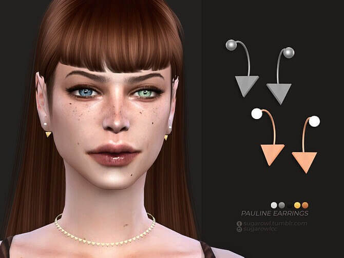 Sims 4 Pauline earrings by sugar owl at TSR