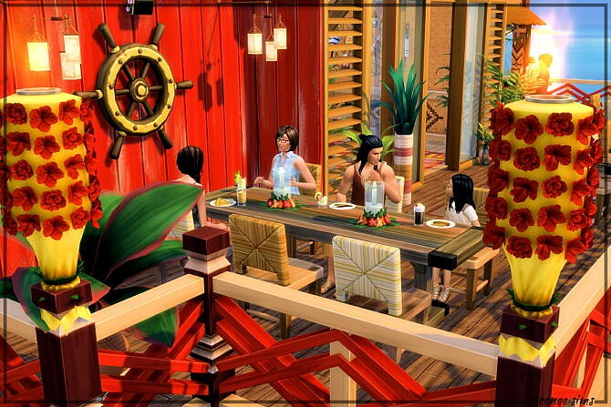 Sims 4 The Angry Anchovy Restaurant at Strenee Sims
