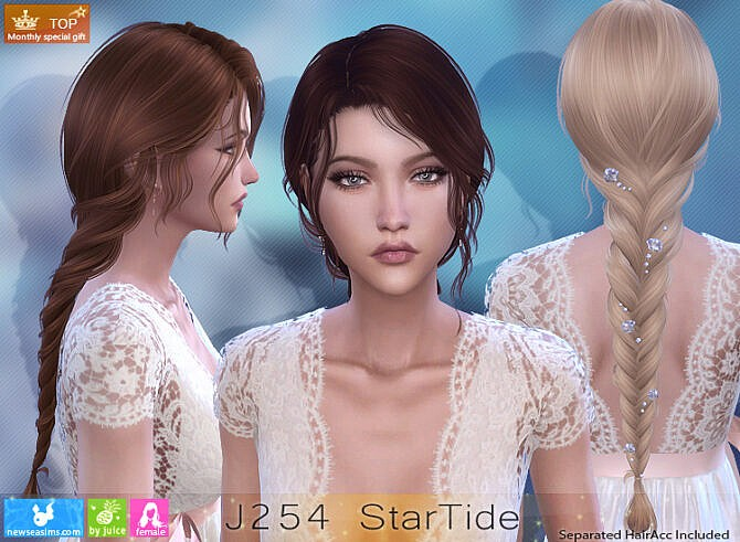 Sims 4 J254 StarTide hair at Newsea Sims 4