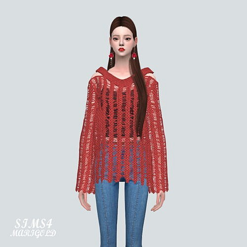 Mesh Sweater 8 St