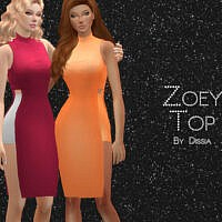 Zoey Top By Dissia
