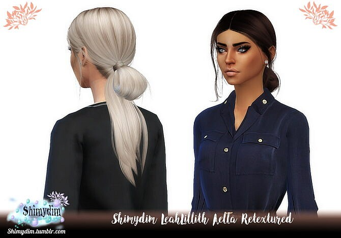 Sims 4 LeahLillith Aella Hair Retexture Naturals + Unnaturals at Shimydim Sims