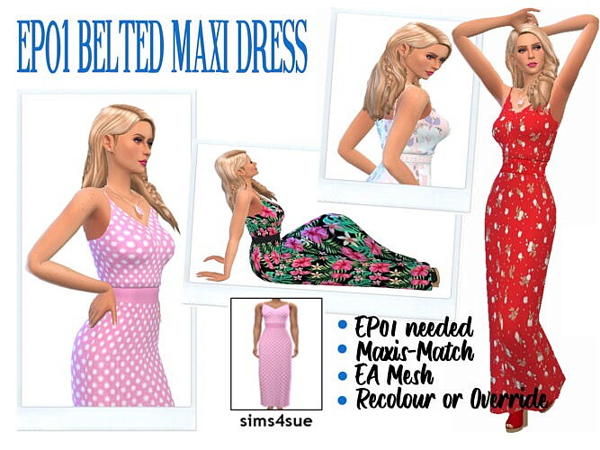Belted Maxi Dress Ep01