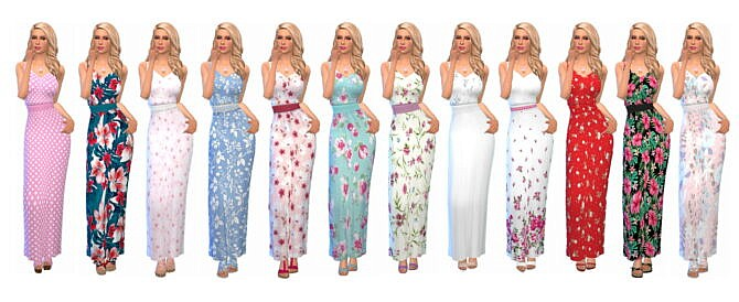Sims 4 BELTED MAXI DRESS EP01 at Sims4Sue