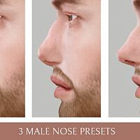 3 Male Nose Sims 4 Presets