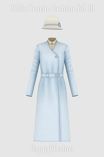 1930s Female Fashion Set 01