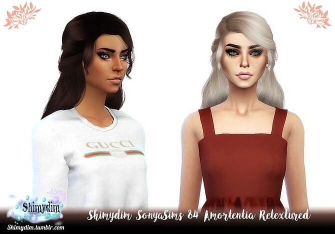 Sonyasims 84 Amortentia Hair Retexture + Child & Toddler