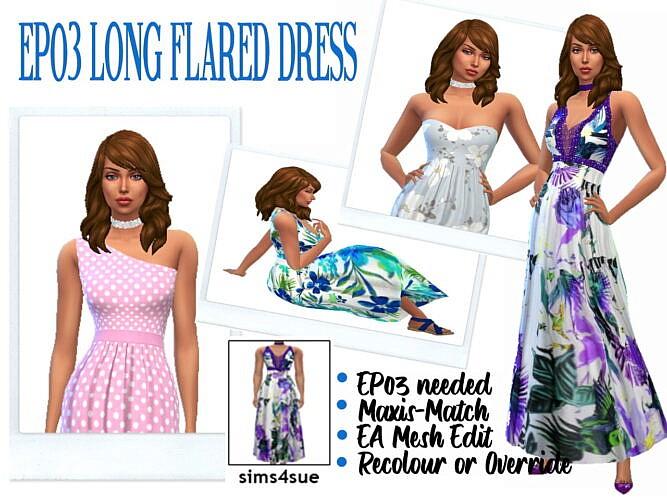 Long Flared Dress Ep03