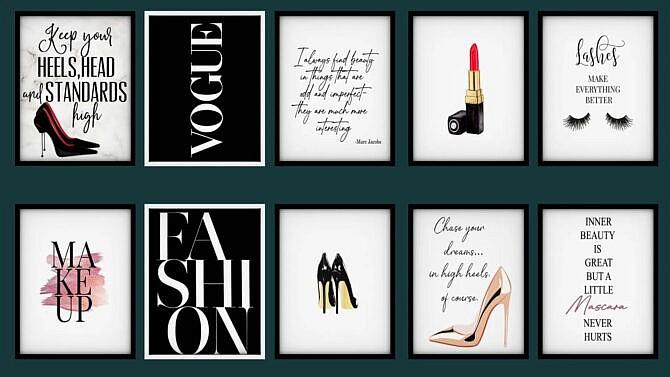 Fashion And Makeup Wall Art