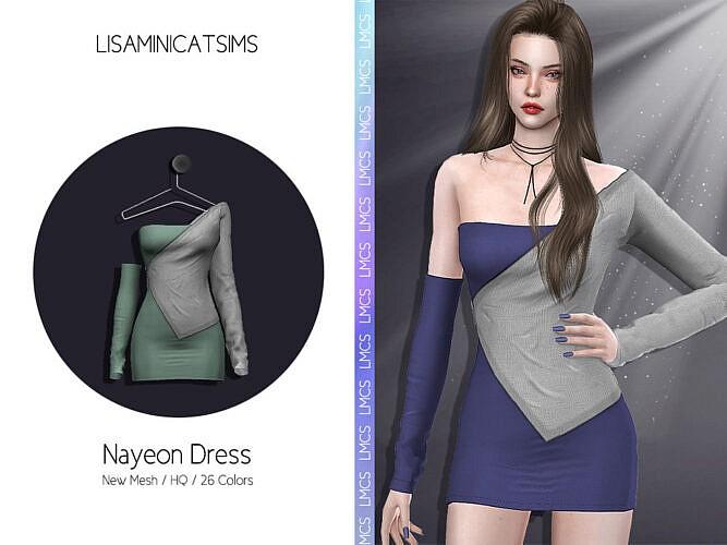 Nayeon Dress By Lisaminicatsims