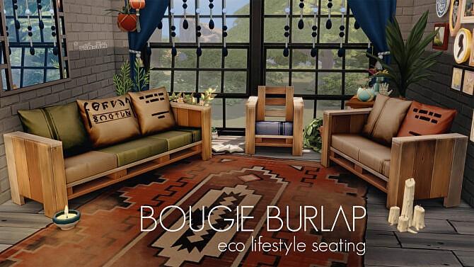 Bougie Burlap Eco Lifestyle Seating