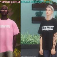 Recolor K-pop Gorilla Oversized T-shirt At Helga Tisha