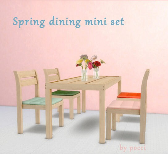 Spring Dining Mini Set By Pocci