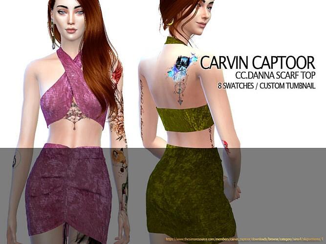 Danna Scarf Top By Carvin Captoor