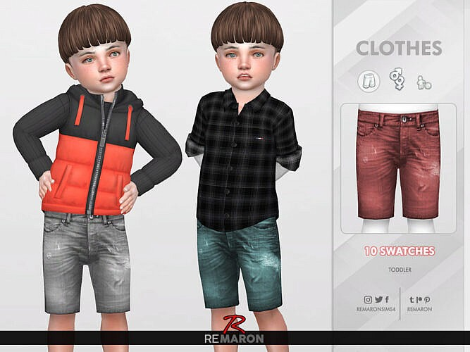 Denim Shorts For Toddler 02 By Remaron