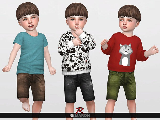 Sims 4 Denim Shorts for Toddler 02 by remaron at TSR
