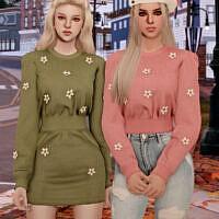 Flower Knit Dress & Top