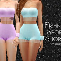 Fishnet Sport Shorts By Dissia