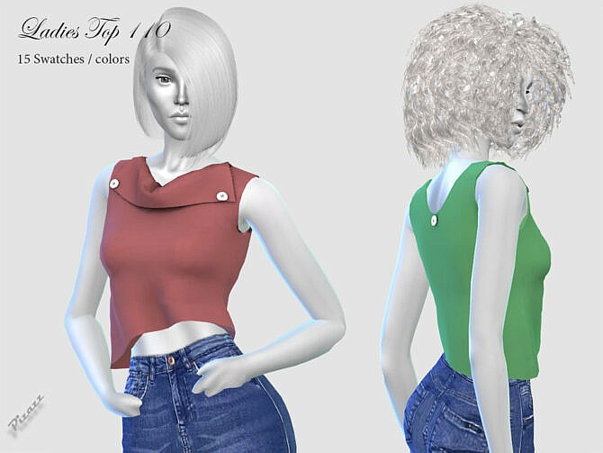 Sims 4 LADIES TOP 110 by pizazz at TSR